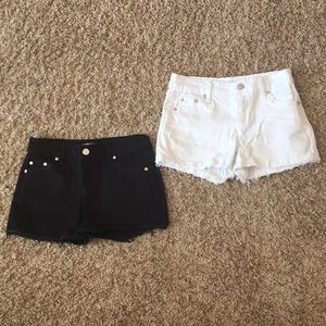 2 pair Tractr Denim Shorts